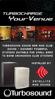 Satellite and Sound install Turbosound sound systems